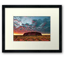 Ayers Rock (Uluru) Sunrise, Australia Framed Print