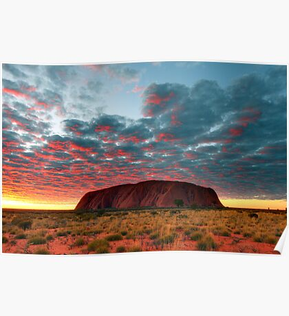 Ayers Rock (Uluru) Sunrise, Australia Poster
