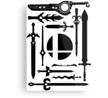 Smash Swords Metal Print