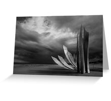 The Rise of Freedom at Omaha Beach Greeting Card