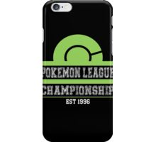 Pokemon League Championship - GREEN iPhone Case/Skin