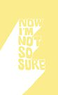 NOW I'M NOT SO SURE by Steve Leadbeater