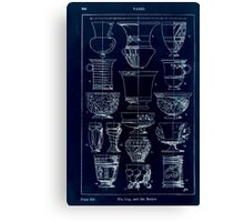 A Handbook Of Ornament With Three Hundred Plates Franz Sales Meyer 1896 0360 Vases Cup Beaker Inverted Canvas Print