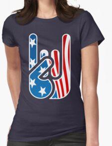 Rockin' USA Womens Fitted T-Shirt