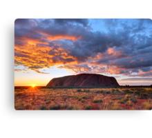 Ayers Rock (Uluru) Sunrise, Australia Canvas Print