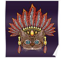 Leopard Kitten: Aztec Chief  Poster