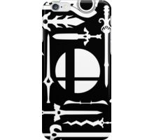 Smash Swords White iPhone Case/Skin