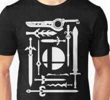 Smash Swords White Unisex T-Shirt