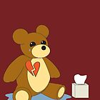 Heart Broken Teddy Bear by RocketGirl