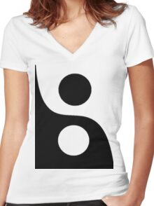 Yin and Yang. Women's Fitted V-Neck T-Shirt