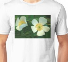 Dewy White Anemone Wildflowers Unisex T-Shirt