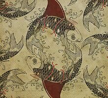 ying and yang shark fin goldfish by vinpez