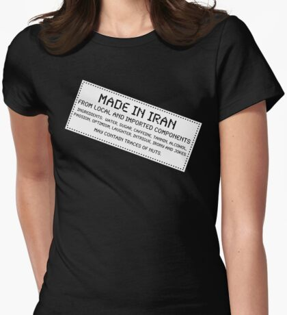 Traces of Nuts - Iran Womens Fitted T-Shirt