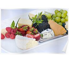 Fruit & Cheese Platter Poster