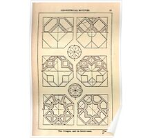 A Handbook Of Ornament With Three Hundred Plates Franz Sales Meyer 1896 0035 Geometrical Elements Octogon Subdivision Poster