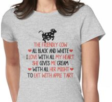 THE FRIENDLY COW Womens Fitted T-Shirt