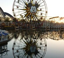 Paradise Pier at Dusk, Disney California Adventure by Tomreagan