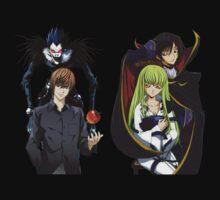 death note code geass light ryuk cc c2 lelouch anime manga shirt by ToDum2Lov3