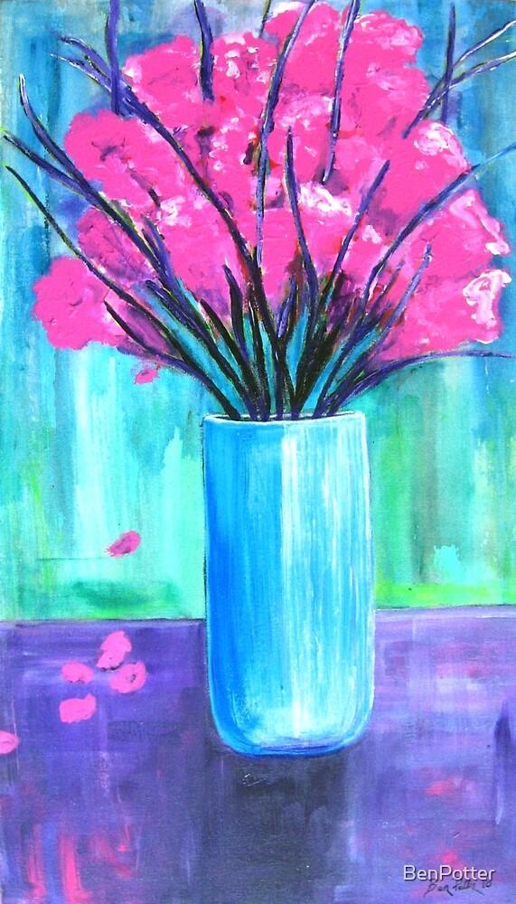 Pink in Vase by BenPotter