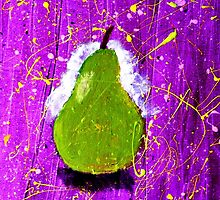 Pear on Purple. by Paul Rees-Jones