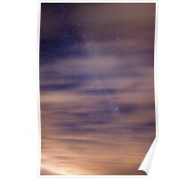 Milky Way behind the clouds  Poster