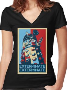 EXTERMINATE Hope Women's Fitted V-Neck T-Shirt