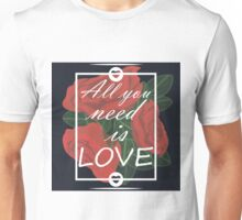 graphic print with flowers Unisex T-Shirt
