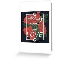 graphic print with flowers Greeting Card