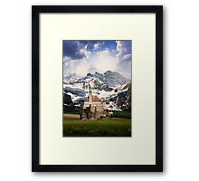 Imaginary landscapes: The castle Framed Print