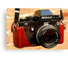 Nikon F3 HP In Leather Jacket Canvas Print