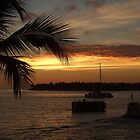 Sunset over 'The keys' by Steve Unwin