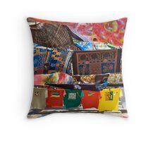 Mozambique Market Colours Throw Pillow