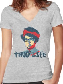 It Crowd Inspired - Moss & the Thug Life - Nerd Goes Gangsta - Flippin Awesome Moss Women's Fitted V-Neck T-Shirt
