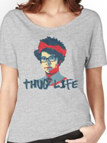 It Crowd Inspired - Moss & the Thug Life - Nerd Goes Gangsta - Flippin Awesome Moss Women's Relaxed Fit T-Shirt