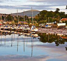 Caernarfon harbour at dusk by Shaun Whiteman