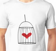 Abstract concept of love cage Unisex T-Shirt