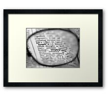 Looking for? Framed Print