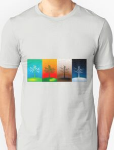 Abstract concept of year's seasons T-Shirt
