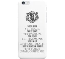 The Grey Jedi Code iPhone Case/Skin