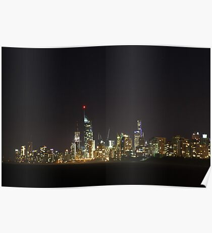 surfers paradise skyline Poster