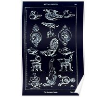 A Handbook Of Ornament With Three Hundred Plates Franz Sales Meyer 1896 0381 Metal Objects Antique Lamp Inverted Poster
