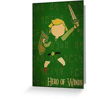 Hero of Winds Greeting Card