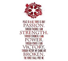 The Sith Code Photographic Print