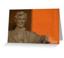 Abe in the Morning Greeting Card