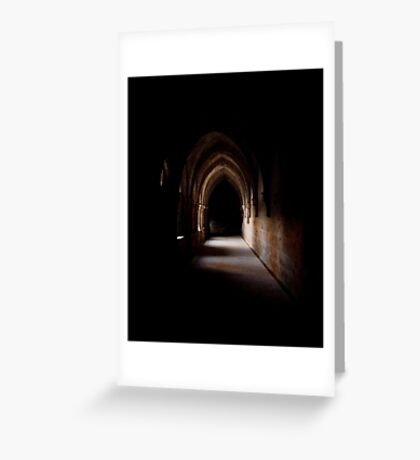Gothic Cloister Greeting Card