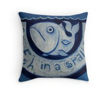 'Big Fish in a Small Pond' Throw Pillow