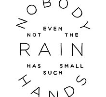 nobody, not even the rain by Isabella Brown