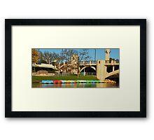 Jolly's Boat House - River Torrens Adelaide Framed Print