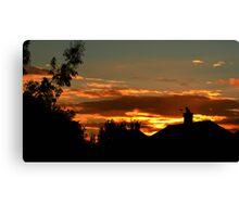 sunset Over suburbia Canvas Print