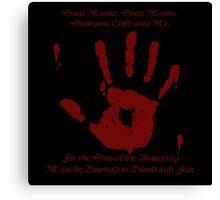Skyrim - Black Sacrament Canvas Print